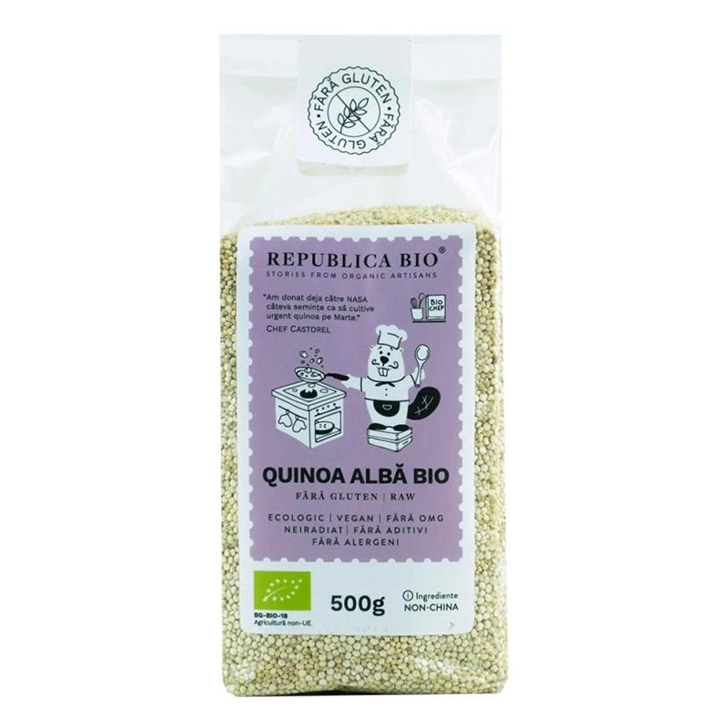 Quinoa alba fara gluten (500 grame), Republica Bio