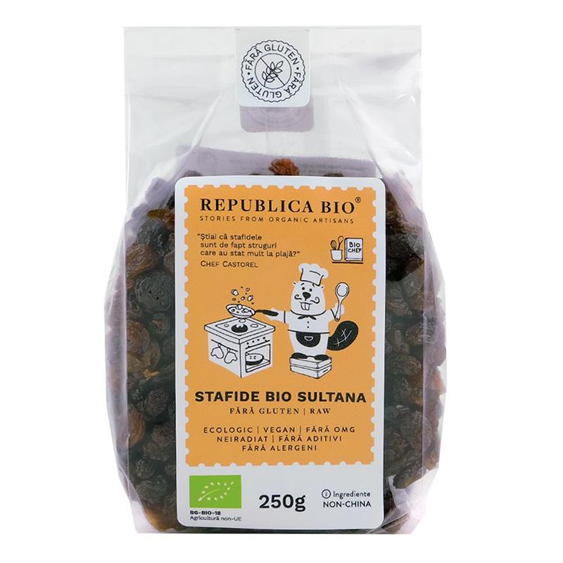 Stafide Sultana fara gluten (250 grame), Republica Bio