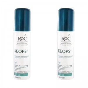 Duo Pack Keops deodorant Spray Fresh (100 ml), RoC