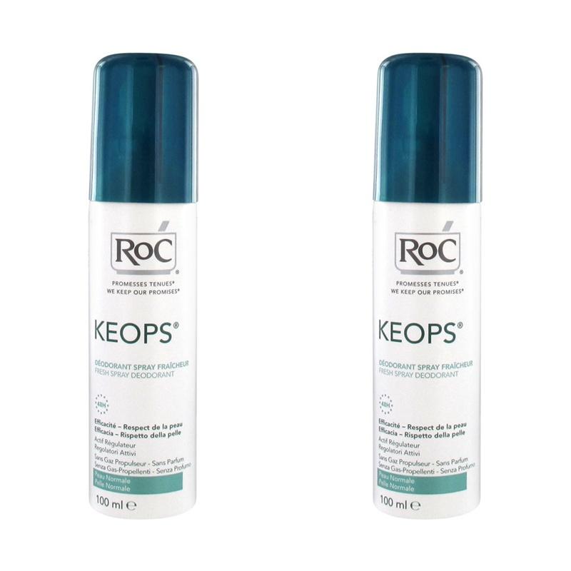 Duo Pack Keops deodorant Spray Fresh (100 ml), RoC