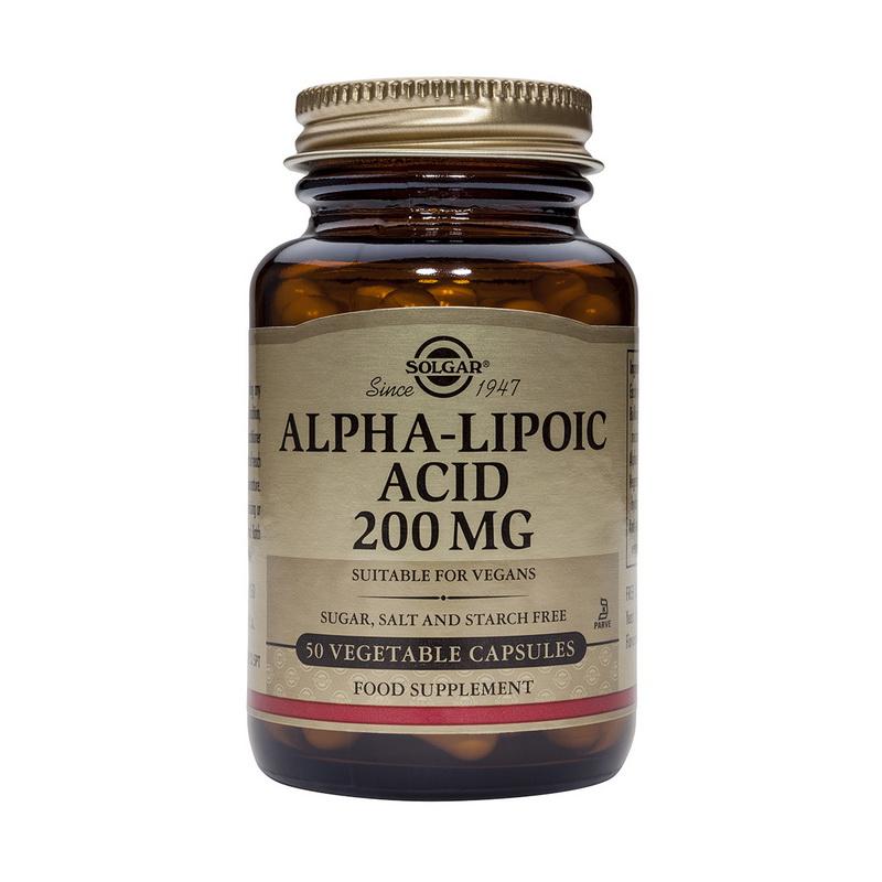 Alpha Lipoic Acid 200mg (50 capsule), Solgar
