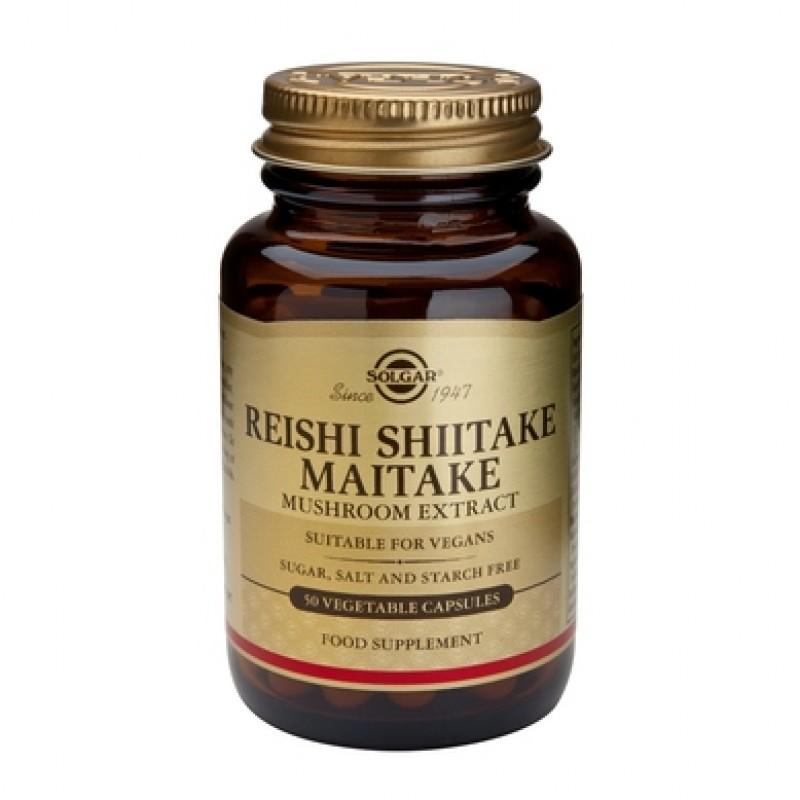 Reishi Shiitake Maitake Mushroom Extract (50 capsule)