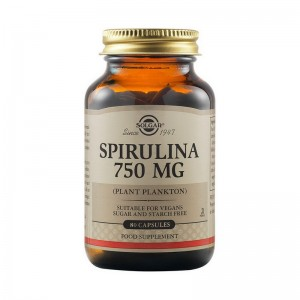Spirulina 750mg (80 capsule), Solgar