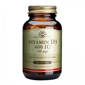 Vitamin D3 400IU (100 capsule), Solgar