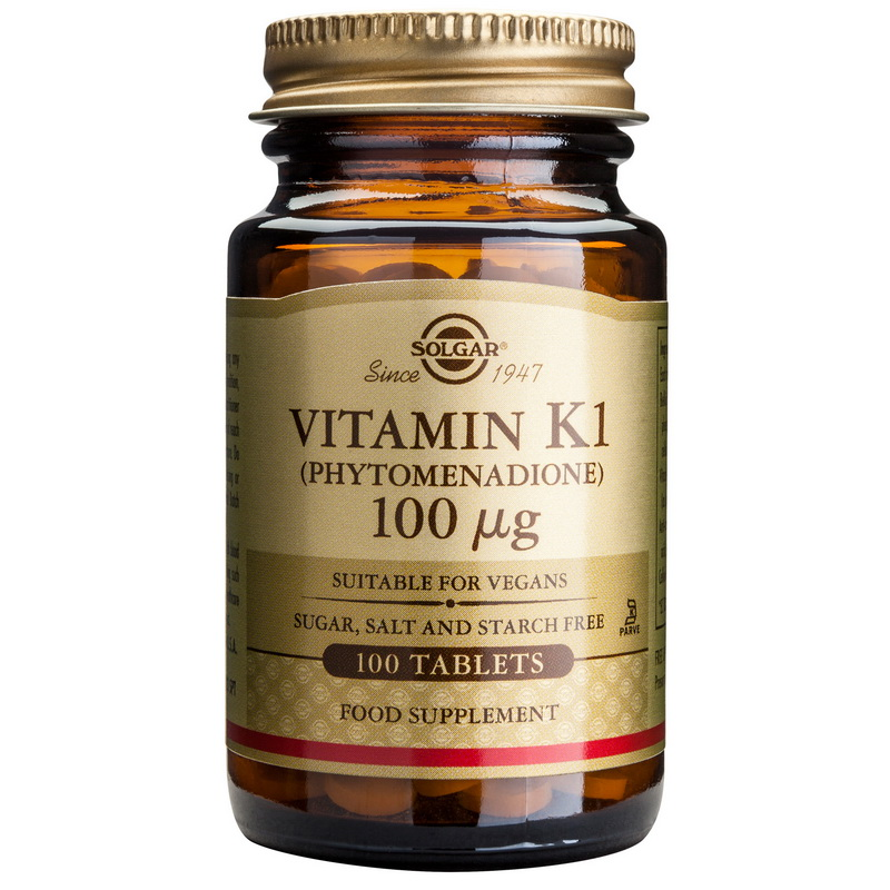 Vitamin K1 100mcg (100 tablete), Solgar
