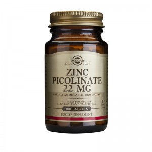 Zinc Picolinate 22mg (100 tablete), Solgar