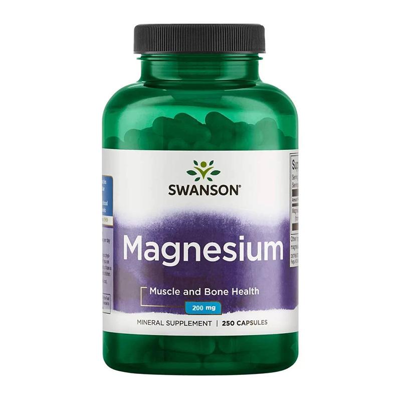 Magneziu 200 mg (250 capsule), Swanson