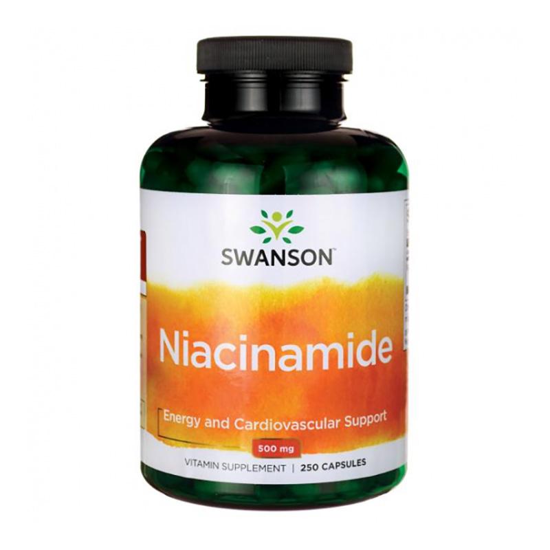 Vitamina B3 Niacinamida 500 mg (250 capsule), Swanson