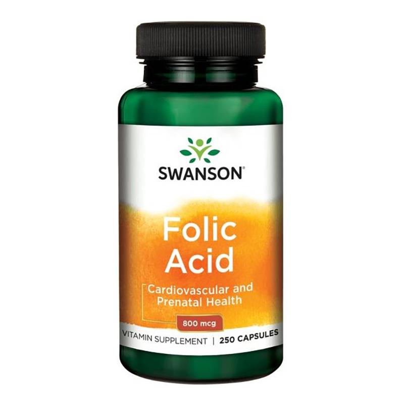 Vitamina B4 Acid Folic 800 mcg (250 capsule), Swanson