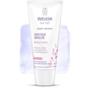 Baby Derma Cremă pentru Zona Scutecului cu Nalbă Albă (50 ml), Weleda