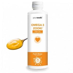 Omega 3 Zooki Ulei de peste piersici-mango (450ml)