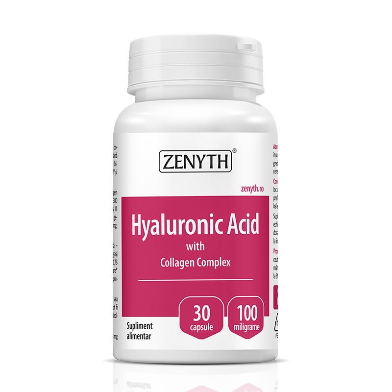 Acid Hyaluronic cu Collagen Complex 700 mg (30 capsule), Zenyth Pharmaceuticals