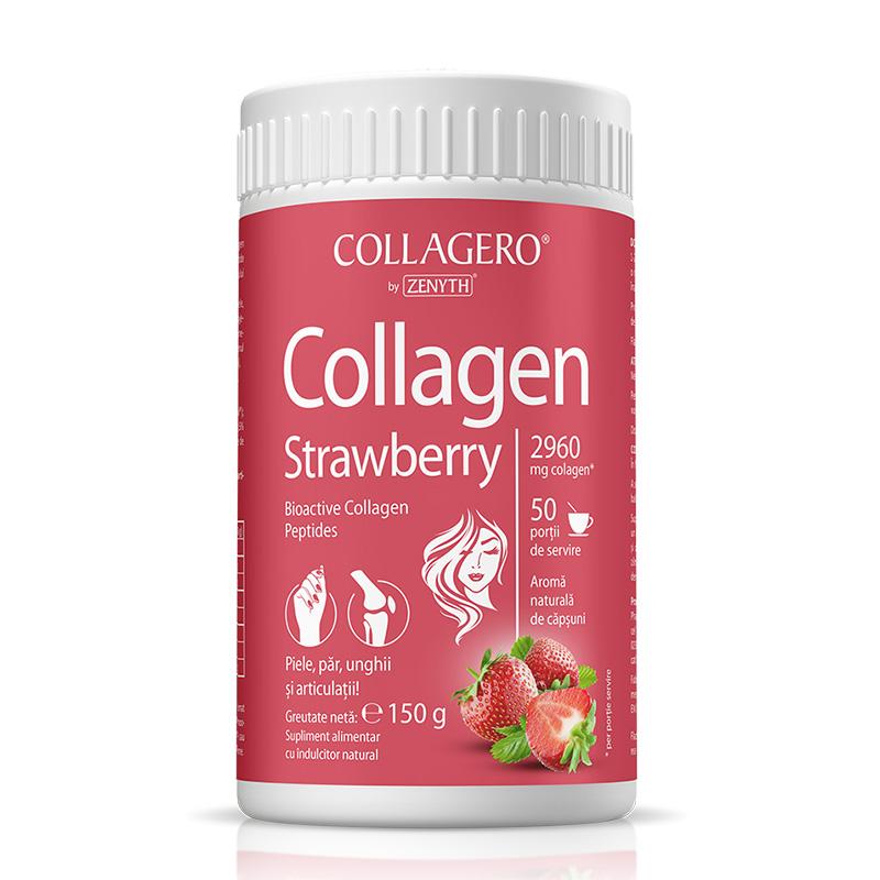 Collagen cu aroma de capsuni 150 grame, Zenyth Pharmaceuticals
