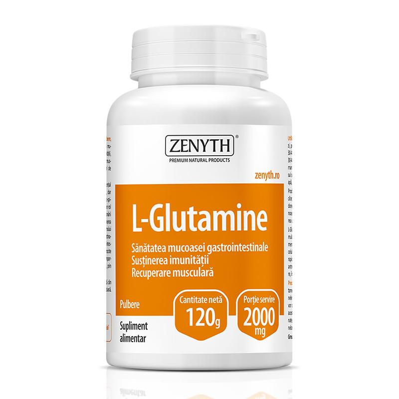 L-Glutamine 120 grame, Zenyth Pharmaceuticals