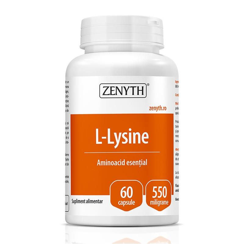 L-Lysine 550 mg (60 capsule), Zenyth Pharmaceuticals