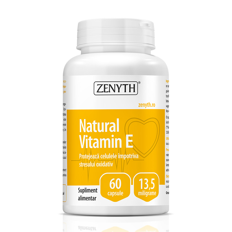 Natural Vitamin E 13,5 mg (60 capsule), Zenyth Pharmaceuticals
