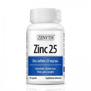 Zinc 25 (30 capsule), Zenyth Pharmaceuticals