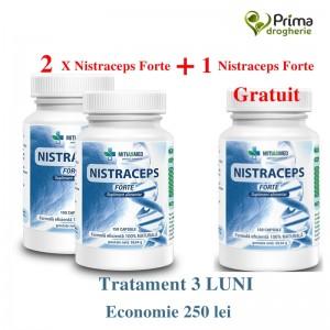 Promo Nistraceps Forte 2+1 Gratuit- Tratament 3 luni ( 3 x 150 capsule), Mitiasmed
