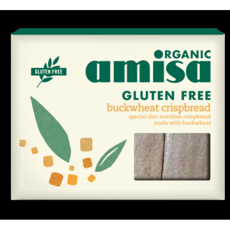 Crispbread (painici) din hrisca integrala fara gluten bio (120 grame), Amisa