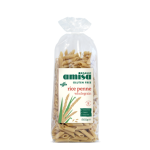 Penne din orez integral fara gluten bio (500 grame), Amisa