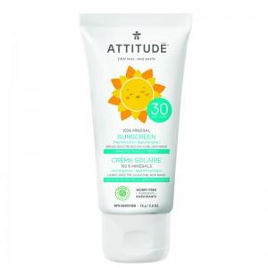 Lotiune protectie solara, SPF 30, fara miros (75 grame), Attitude
