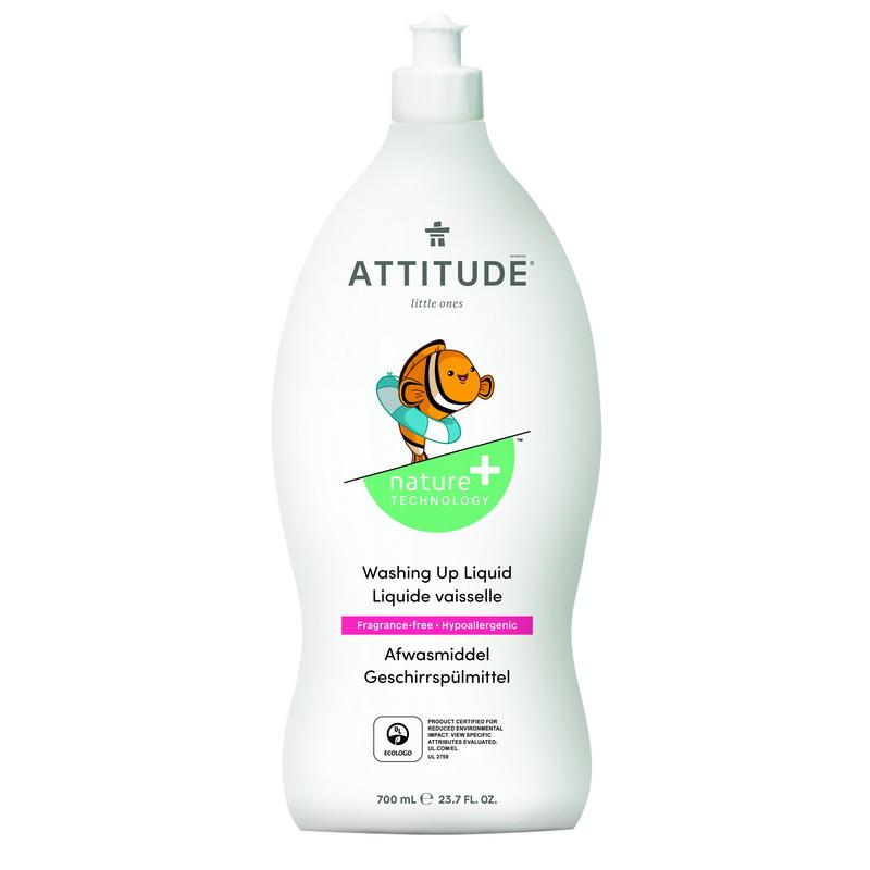 Lichid de spalat vase si biberoane, fara miros (700 ml), Attitude