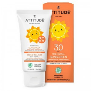 Lotiune protectie solara, SPF 30, aroma vanilie (75 grame), Attitude