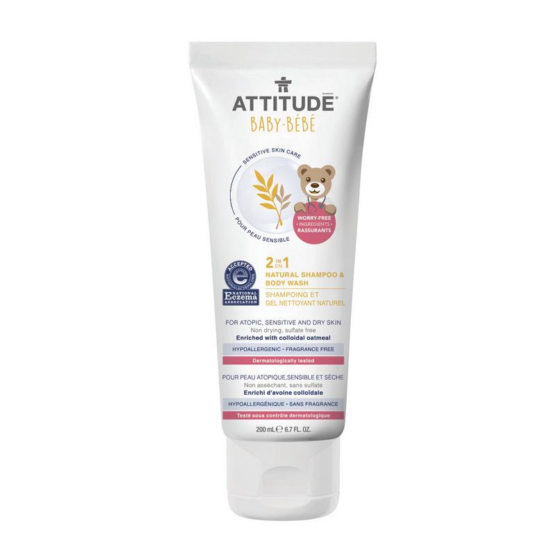 Sensitive Skin Baby Natural 2 in 1 Sampon si gel de dus (200 ml), Attitude