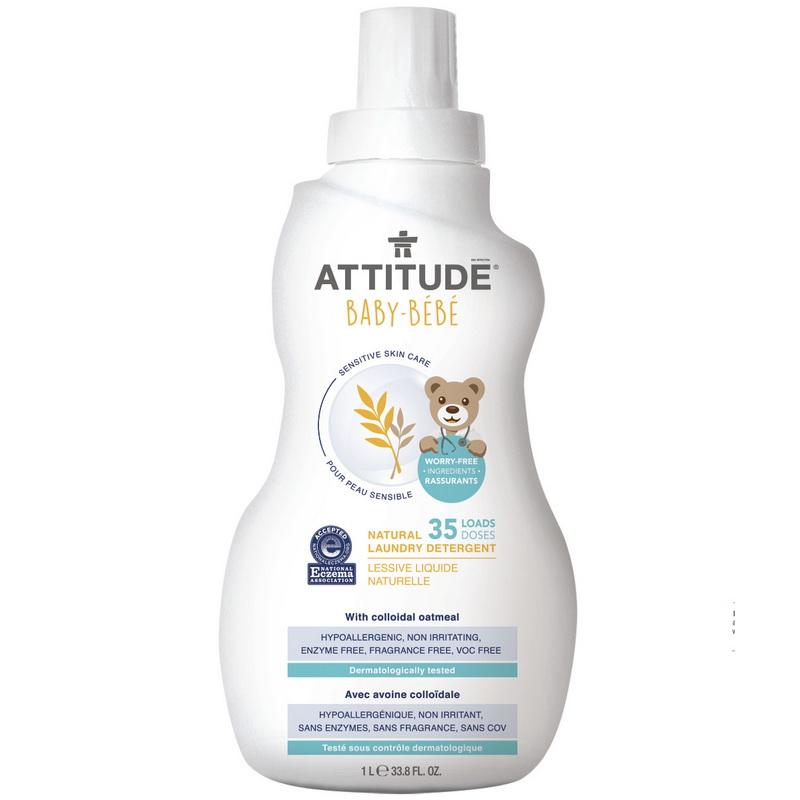 Sensitive Sensitive Skin Baby Natural Detergent de rufe (1.05 L), Attitude