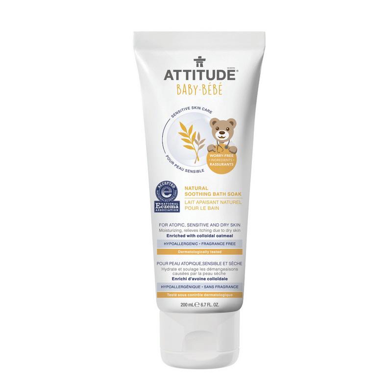 Sensitive Skin Baby Natural Lapte de baie calmant (200 ml), Attitude