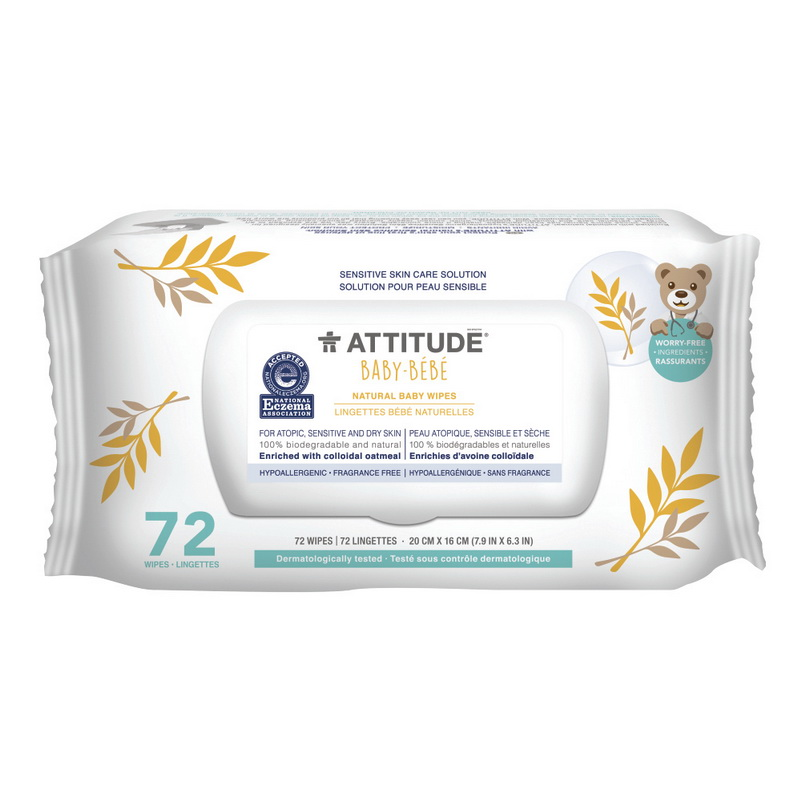 Sensitive Skin Natural Servetele umede (72 bucati), Attitude