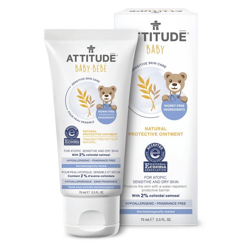 Sensitive Skin Baby Natural Unguent protectiv (75 ml), Attitude