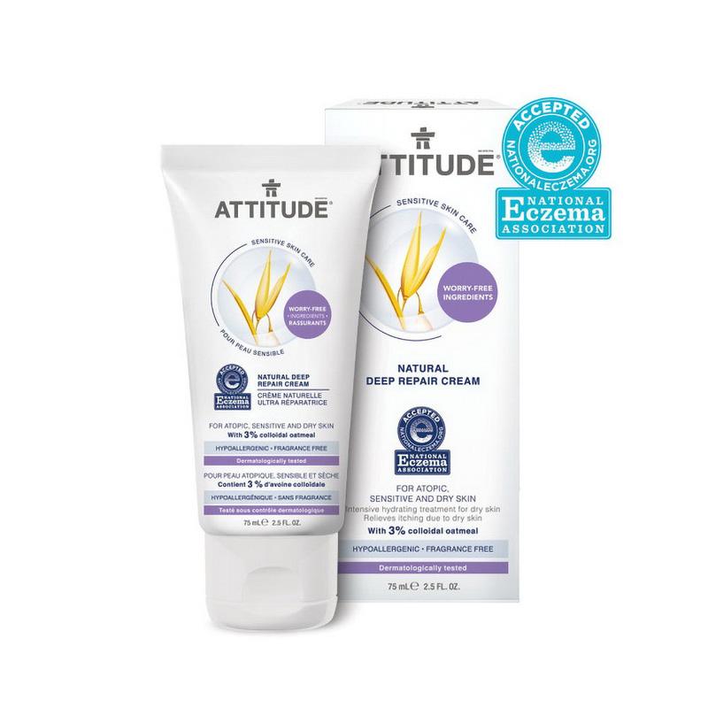 Sensitive Natural Crema reparatorie (75 ml), Attitude