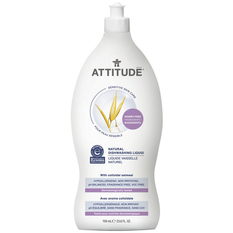 Sensitive Skin Natural Lichid de spalat vase (700 ml), Attitude