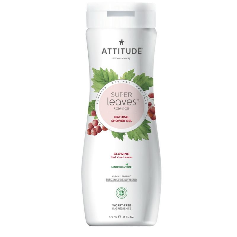 Superleaves Gel de dus - Stralucirea pielii (473 ml), Attitude