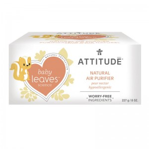Baby Leaves purificator natural de aer pentru copii, nectar de pere (227 grame), Attitude