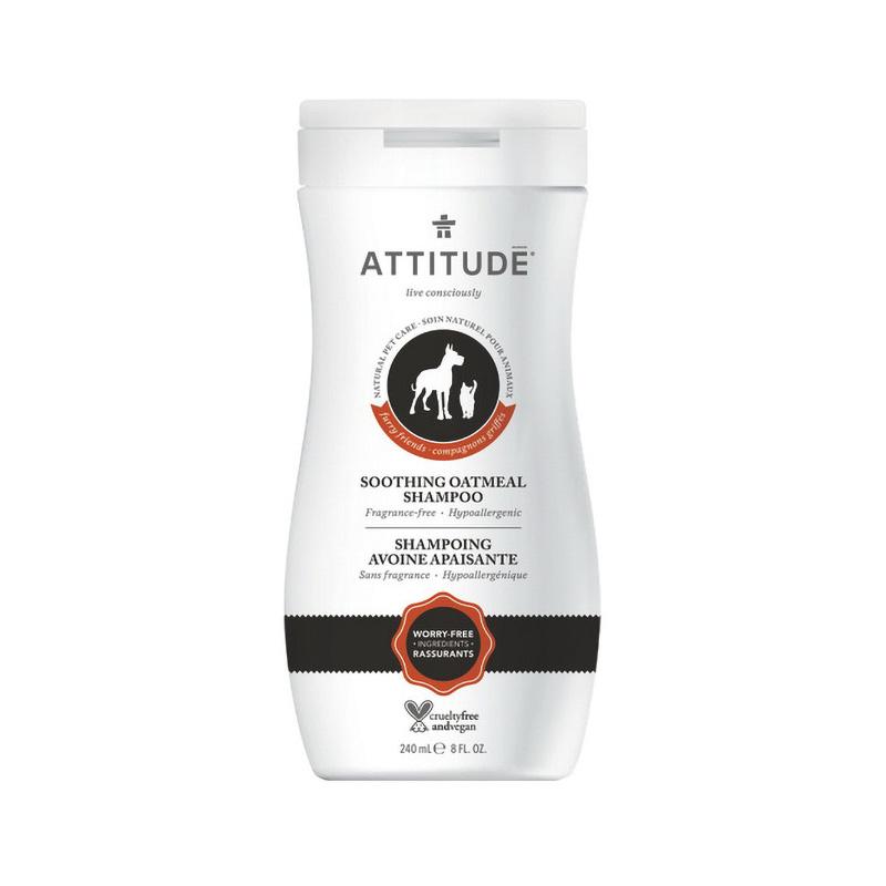 Sampon natural pentru animalul tau de casa, blana moale, orz (240 ml), Attitude