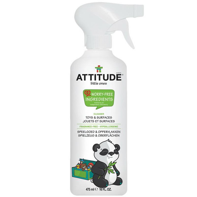 Solutie de curatat jucarii si suprafete, fara miros (475 ml), Attitude