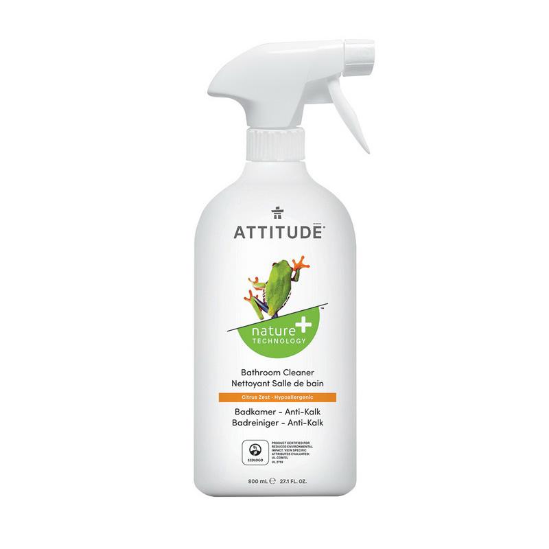 Solutie de curatat depunerile de calcar din baie, coaja de citrice (800 ml), Attitude