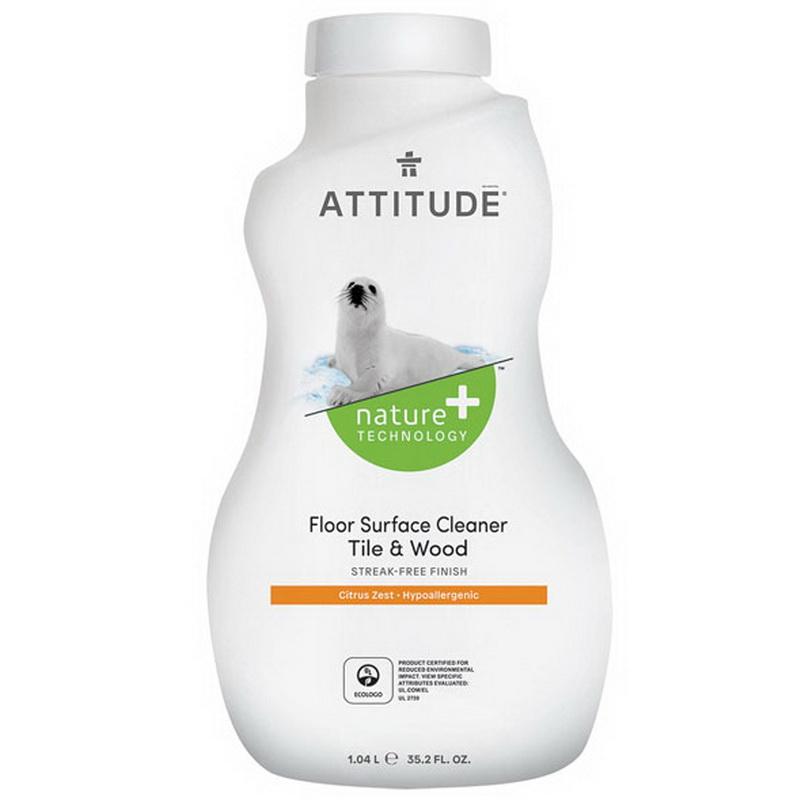 Solutie de curatat pardoseli, gresie şi parchet, coaja de citrice (1050 ml), Attitude
