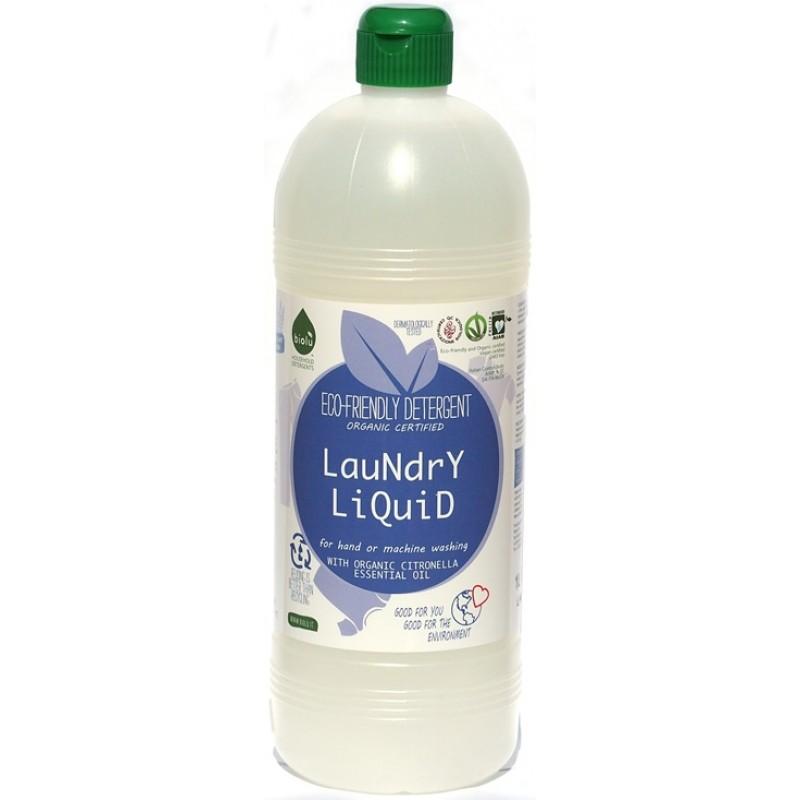 Detergent ecologic lichid pentru rufe albe si colorate cu lamaie (1L), Biolu