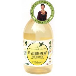 Sampon ecologic cu ulei de masline pentru par uscat / vopsit (300ml), Biolu