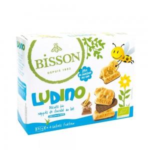 LUDINO - biscuiti acoperiti cu ciocolata cu lapte cu forme pentru copii (160g), Bisson