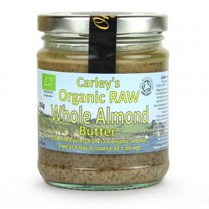 Unt de migdale intregi raw bio (250g), Carley's Organic