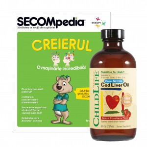 Cod Liver Oil 237ml (gust de capsuni), ChildLife Essential