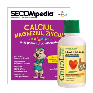 Calcium with Magnesium 474ml (gust portocale), ChildLife Essentials