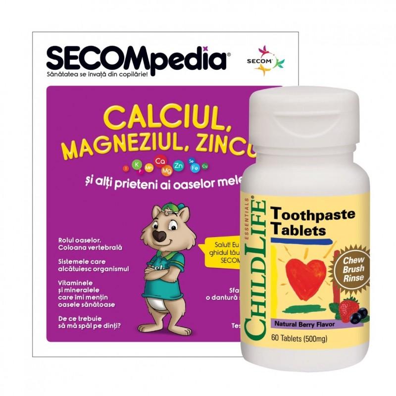 Toothpaste Tablets (60 tablete) (gust de fructe), ChildLife Essentials