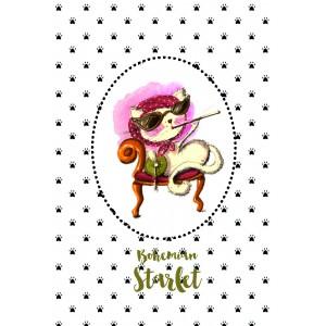 "Felicitare ilustrata ""Bohemian Starlet"" , Choofi"