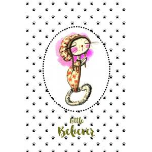 "Felicitare ilustrata ""Little Believer"", Choofi"