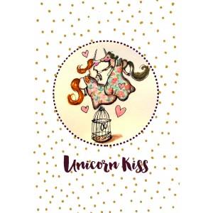 "Felicitare ilustrata ""Unicorn kiss"", Choofi"